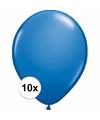 Metallic blauwe ballonnen 10 stuks