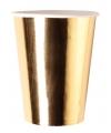 Metallic gouden bekertjes 8x