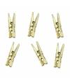Metallic gouden mini knijpertjes 20 stuks