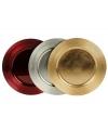 Metallic kaarsen onderbord 33 cm