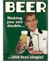 Mini muurplaat beer single 15x20cm