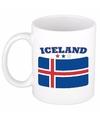 Mok beker ijslandse vlag 300 ml