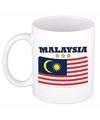 Mok beker maleisische vlag 300 ml