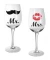 Mr mrs wijnglazen 22 5 cm