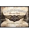 Muurplaat harley davidson motorcycles 30 x 40 cm