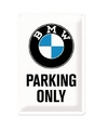Muurplaatje bmw parking only