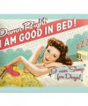 Muurplaatje good in bed 15 x 20 cm
