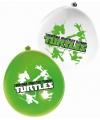 Ninja turtles ballonnen 12 stuks