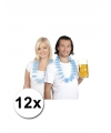 Oktoberfest 12 beieren hawaii krans blauw wit