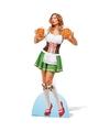 Oktoberfest decoratie bord bier dame