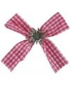 Oktoberfest haarclip strik beieren motief roze