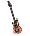 Opblaasbare elektrische gitaar met vlammen
