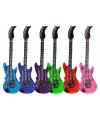 Opblaasbare lichtblauwe elektrische gitaar