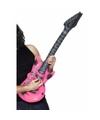 Opblaasbare roze elektrische gitaar 99 cm