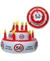 Opblaasbare verjaardagstaart 50 jaar