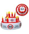 Opblaasbare verjaardagstaart 60 jaar