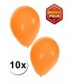 Oranje ballonnen 10 stuks