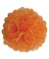Oranje decoratie pompom 35 cm