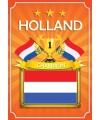 Oranje holland poster