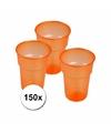 Oranje plastic glazen 150x