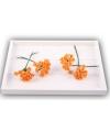 Oranje roosjes van satijn 12cm
