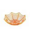 Oranje schaal met spinnen