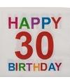 Papieren 30 jaar servetten 20 stuks