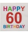 Papieren 60 jaar servetten 20 stuks