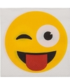 Papieren knipoog smiley servetten 20 stuks