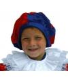 Pieten baret voor kinderen blauw rood
