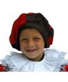 Pieten baret voor kinderen rood zwart