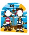 Piraten stand in bord voor kinderen
