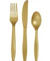 Plastic bestek goud 24 delig