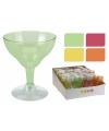 Plastic ijscoupe glazen 4 stuks