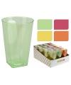 Plastic longdrink glazen 6 stuks