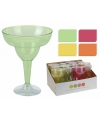 Plastic margarita cocktail glazen 4 stuks
