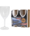 Plastic onbreekbare wijnglazen 2 stuks
