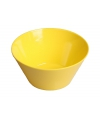 Plastic schaal geel 15 x 7 cm