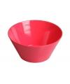 Plastic schaal rood 15 x 7 cm