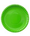 Platte kartonnen bordjes groen 23 cm