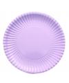 Platte kartonnen bordjes lila paars 23 cm