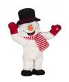 Pluche sneeuwpop met muziek