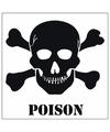 Poison gevaren sticker 10 5 cm