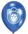 Politie feest ballonnen 6 stuks