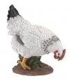 Polystone kip wit met zwart 25 cm