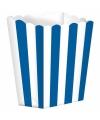 Popcorn bakjes blauw 5 stuks