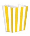 Popcorn bakjes geel 5 stuks