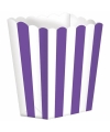 Popcorn bakjes paars 5 stuks