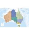 Poster australie landkaart 61 x 91 5 cm