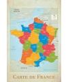 Poster frankrijk landkaart 61 x 91 5 cm